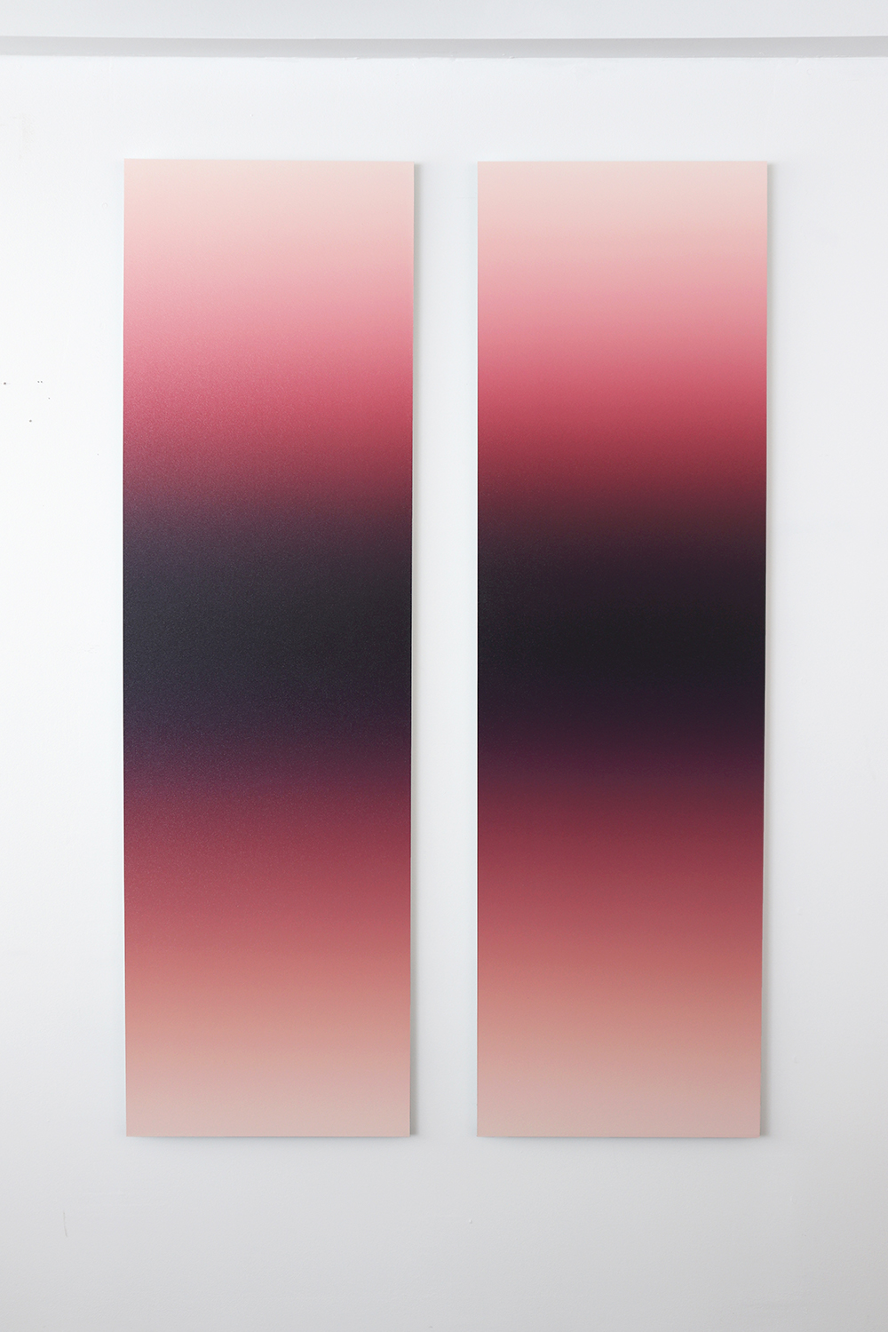 Red-Mauve Shadow No.2 (Diptych)